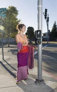 """Untitled (Crosswalk Bodhisattva) archival digital print 32"""" x 48"""""""
